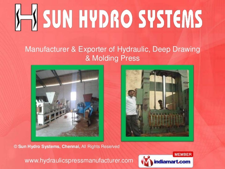Hydraulic Press by Sun Hydro Systems Chennai Chennai