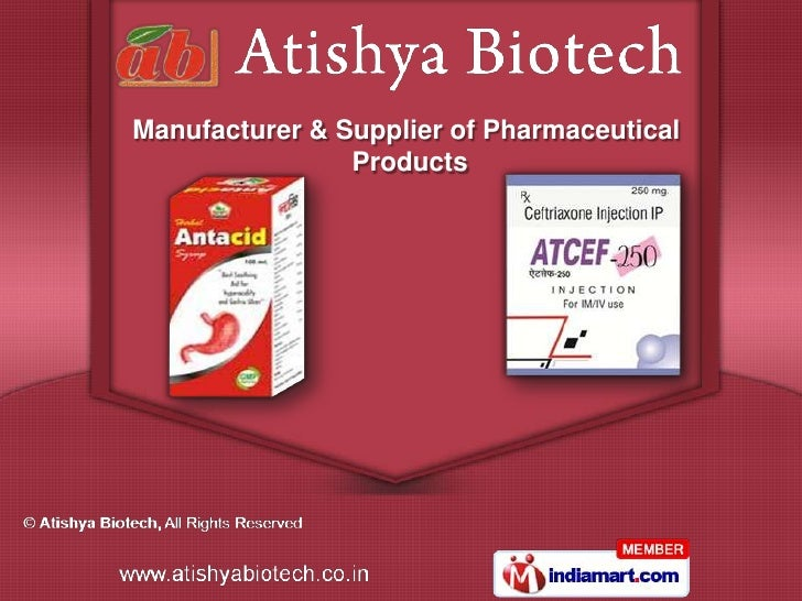 Manufacturer & Supplier of Pharmaceutical                Products