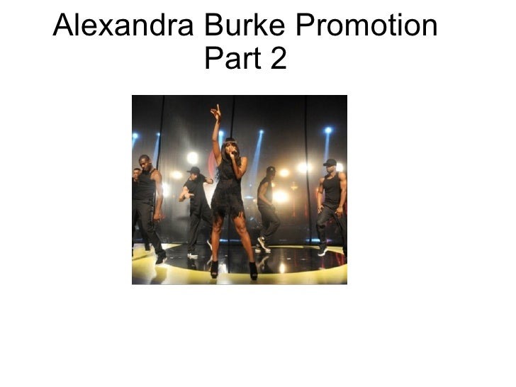 Alexandra Burke Promotion Part 2