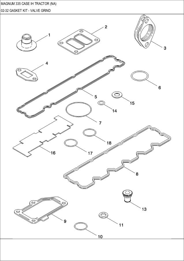 Magnum 335 CASE IH Tractor parts catalog