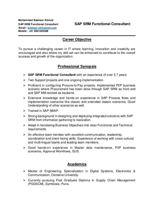 resume mohammed basheer ahmed