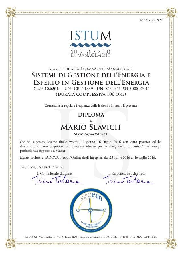 28927 Diploma Di Master