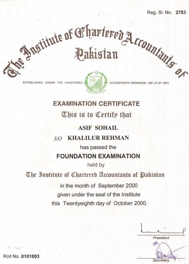inter certificate CA INTER CERTIFICATE
