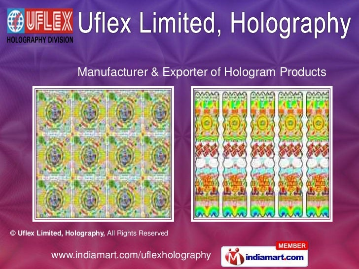 Manufacturer & Exporter of Hologram Products<br />