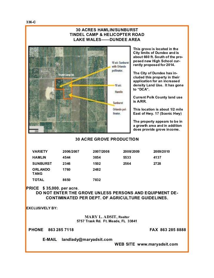 336-C                          30 ACRES HAMLIN/SUNBURST                       TINDEL CAMP & HELICOPTER ROAD               ...