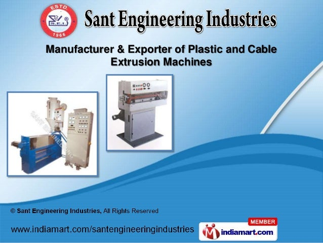 Manufacturer & Exporter of Plastic and Cable           Extrusion Machines