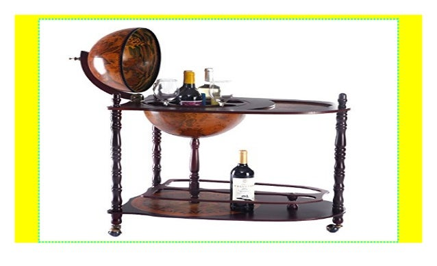 COSTWAY Globusbar Minibar Weltkugel Weinregal Flaschenregal Globus Bar Hausbar Mit Tischplatte Und Rollen Product Details