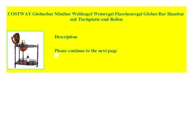 COSTWAY Globusbar Minibar Weltkugel Weinregal Flaschenregal Globus B