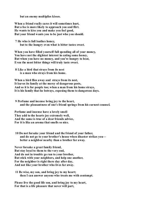 Lyric friend of god lyrics : 33702519 proverbs-27-in-poetry