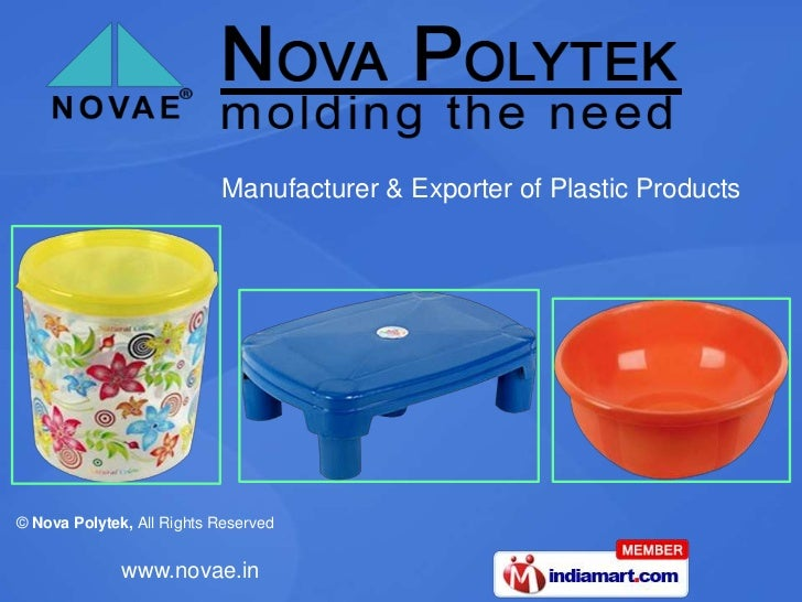 Manufacturer & Exporter of Plastic Products<br />