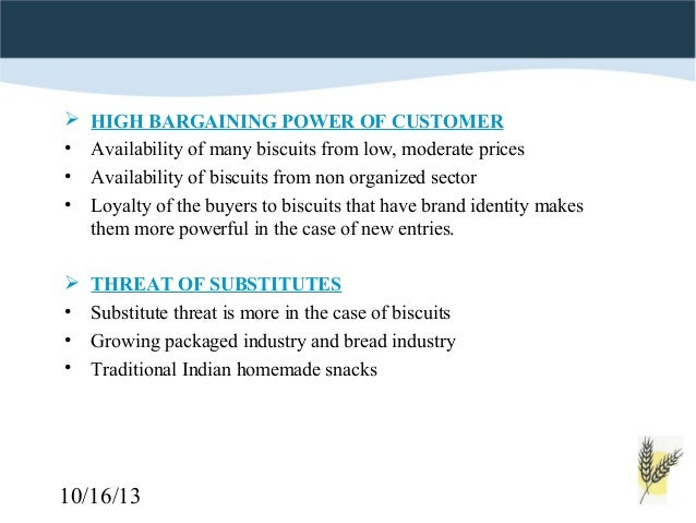 threat from buyers bargaining power of a bakery Bargaining theory we can then more appropriately analyze the sources and consequences of buyer power moreover, once such a framework is formalized, it is then possible to define appropriate metrics to markets in other countries, it was viewed that there was a significant risk of suppliers being exploited by retailers.