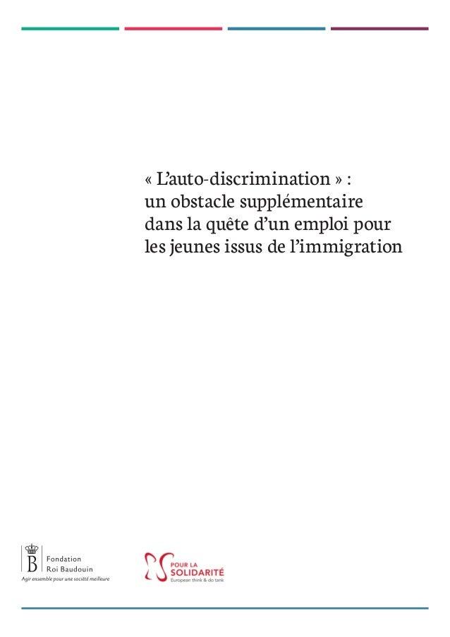« L'auto-discrimination » : un obstacle supplémentaire dans la quête d'un emploi pour les jeunes issus de l'immigration