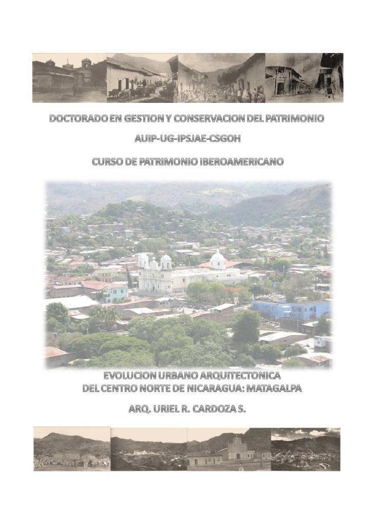 INTRODUCCION  El patrimonio cultural y natural de la región centro americana y particularmente de Nicaragua es aun poco co...