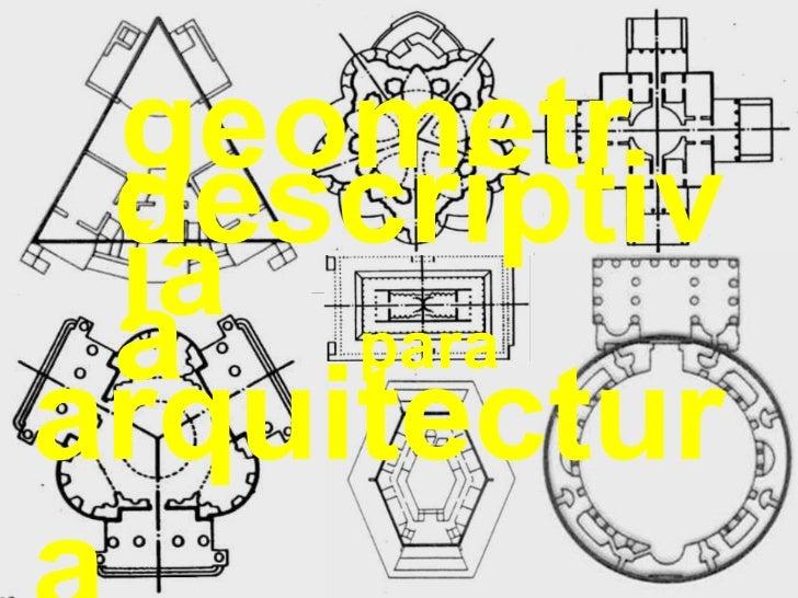 descriptiva geometría arquitectura para