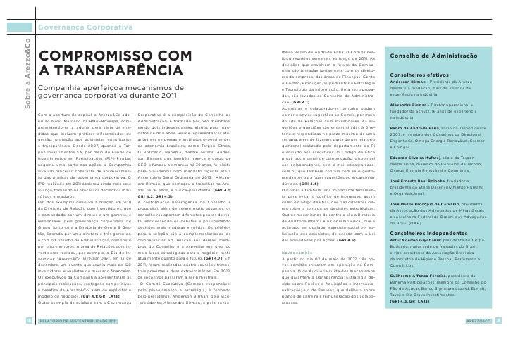 Sobre a ArezzoCo   Governança Corporativa                    Compromisso com                                              ...