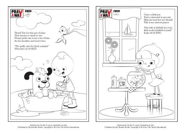 Coloring page: Pray a way pets