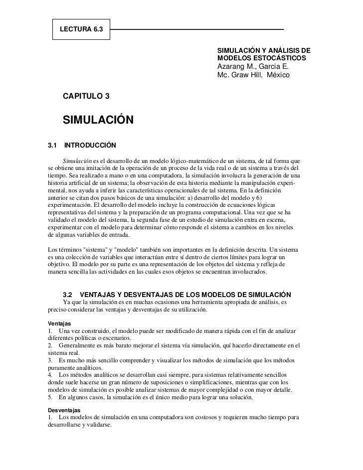 LECTURA 6.3                                                                  SIMULACIÓN Y ANÁLISIS DE                     ...