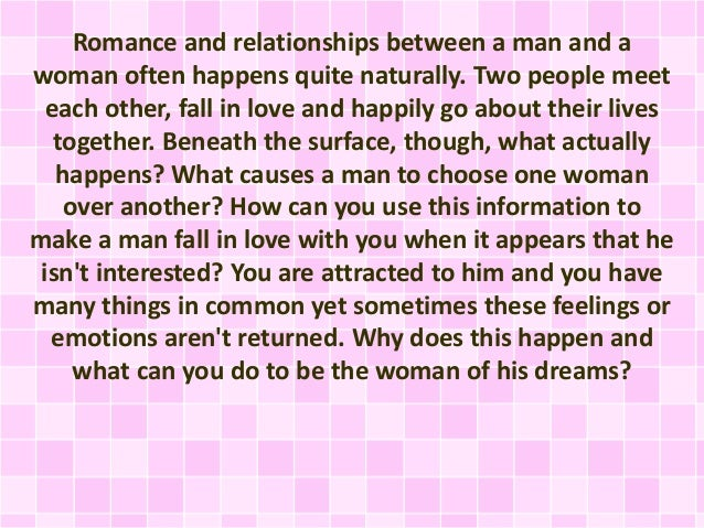 How Yo Make A Man Fall In Love With You