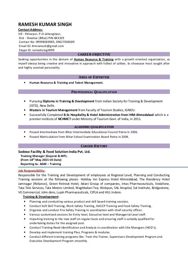 Updated CV for suitable position