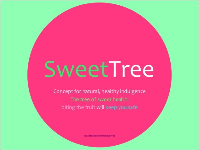 SweetTree	    RoedaVanBekkum	   Initiatives	   	    Concept	   for	   natural,	   healthy	   indulgence	    The	   tree	  ...