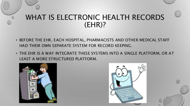 The Electronic Health Records Ehr