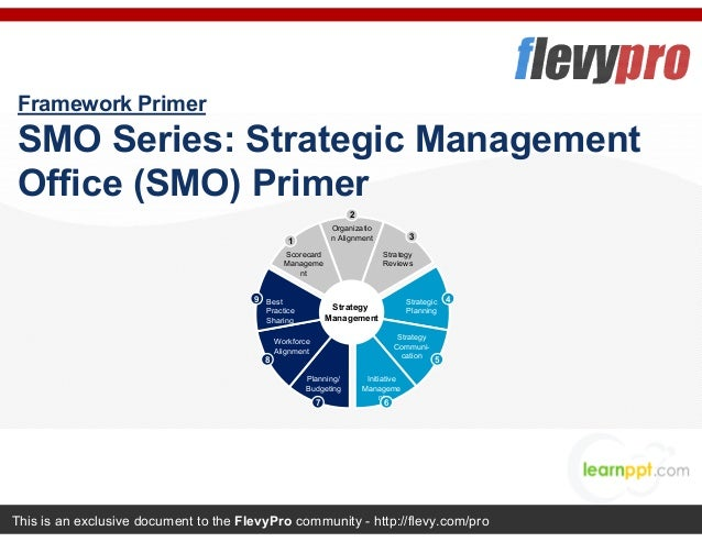 This is an exclusive document to the FlevyPro community - http://flevy.com/pro Framework Primer SMO Series: Strategic Mana...