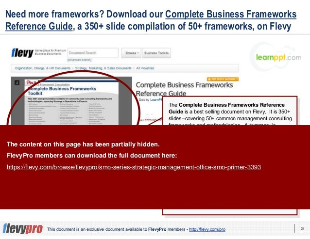 20This document is an exclusive document available to FlevyPro members - http://flevy.com/pro Need more frameworks? Downlo...