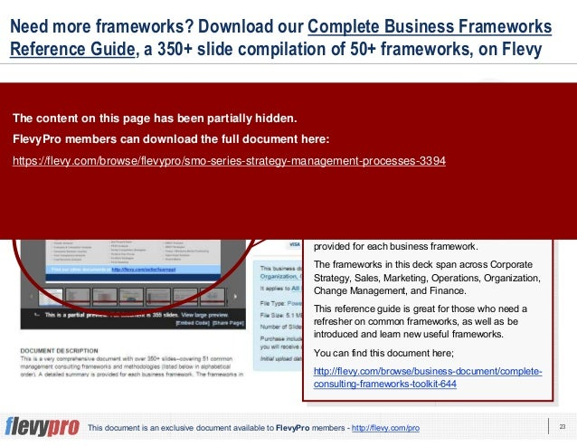 23This document is an exclusive document available to FlevyPro members - http://flevy.com/pro Need more frameworks? Downlo...