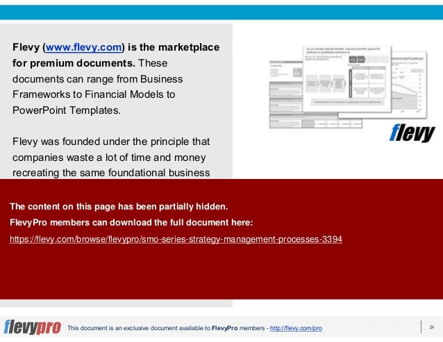 24This document is an exclusive document available to FlevyPro members - http://flevy.com/pro Flevy (www.flevy.com) is the...