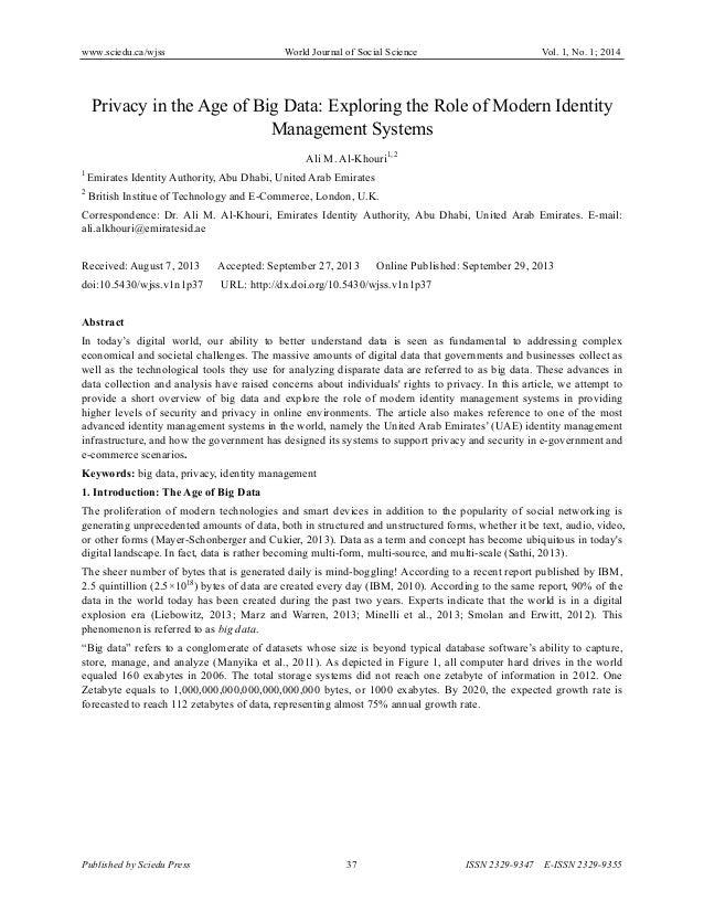 www.sciedu.ca/wjss World Journal of Social Science Vol. 1, No. 1; 2014 Published by Sciedu Press 37 ISSN 2329-9347 E-ISSN ...