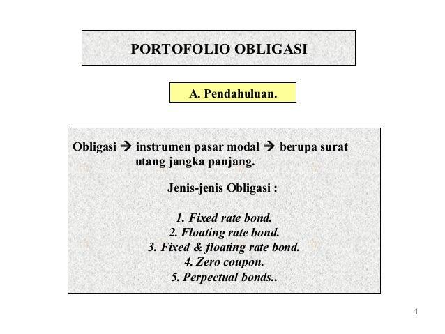 Manajemen Portofolio Obligasi