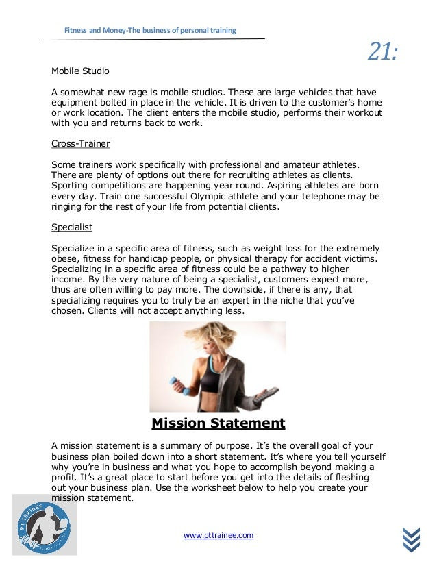 Client worksheet trainer personal Personal Training