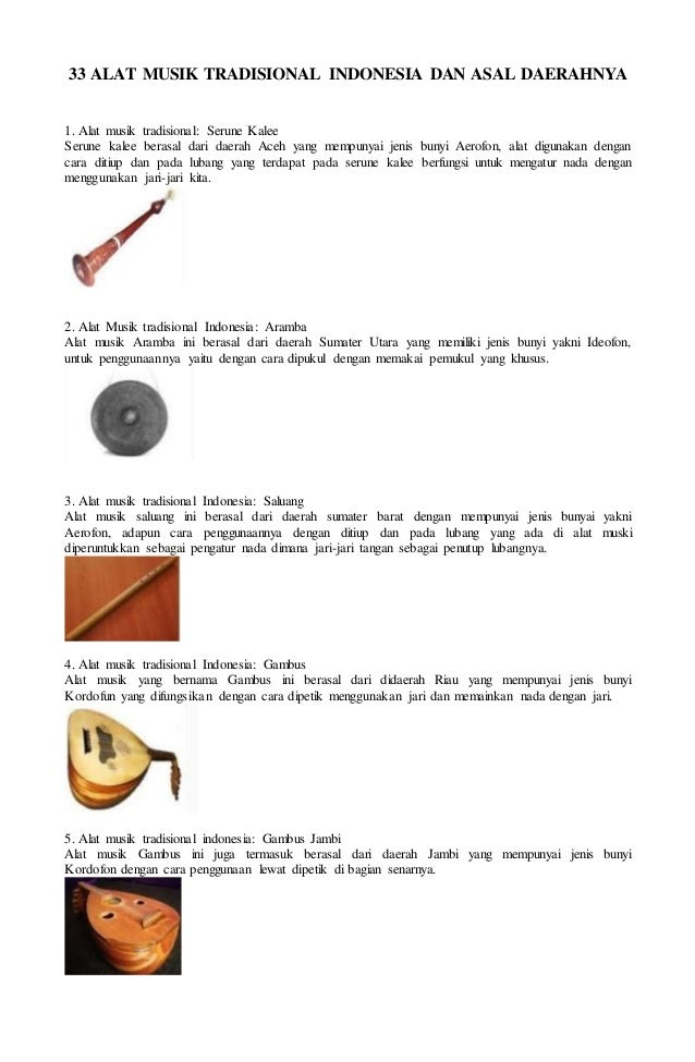 63 Gambar Alat Musik Beserta Asal Daerahnya Terlihat Keren
