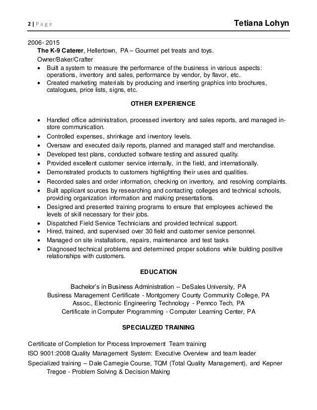 Data Analyst Resume Sept 2016