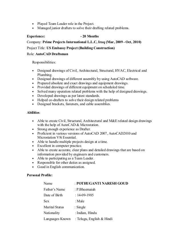 Naresh CV Slide 3