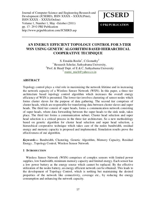 Journal of Computer Science andand Engineering Research and Journal of Computer Science Engineering Research and Developme...