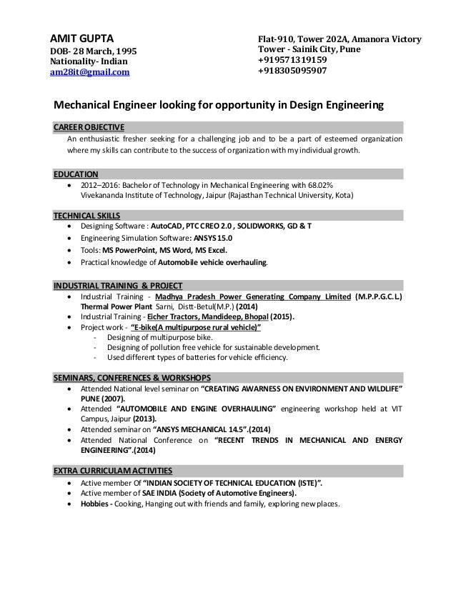 1 Pg Resume