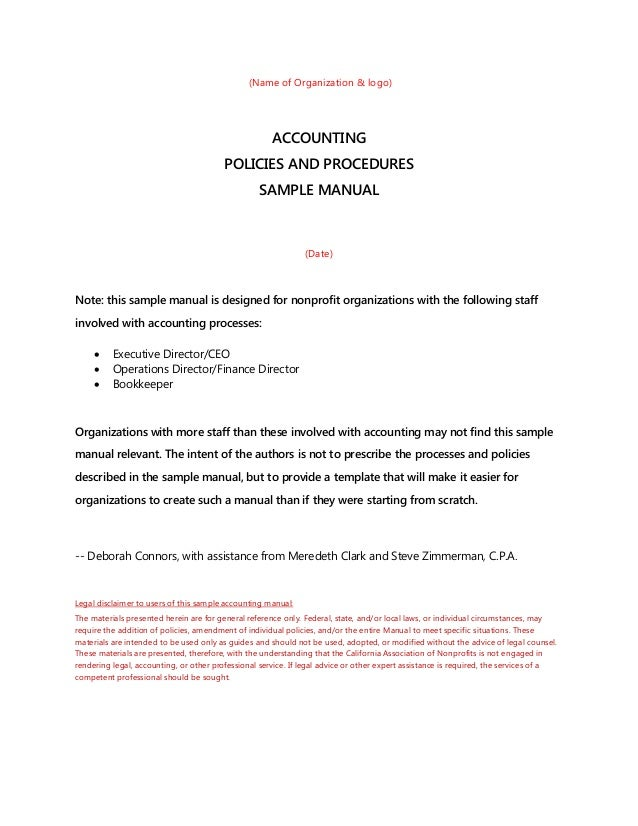 accounting policies and procedures sample rh slideshare net bookkeeping procedures manual pdf Basic Bookkeeping Ledger Form