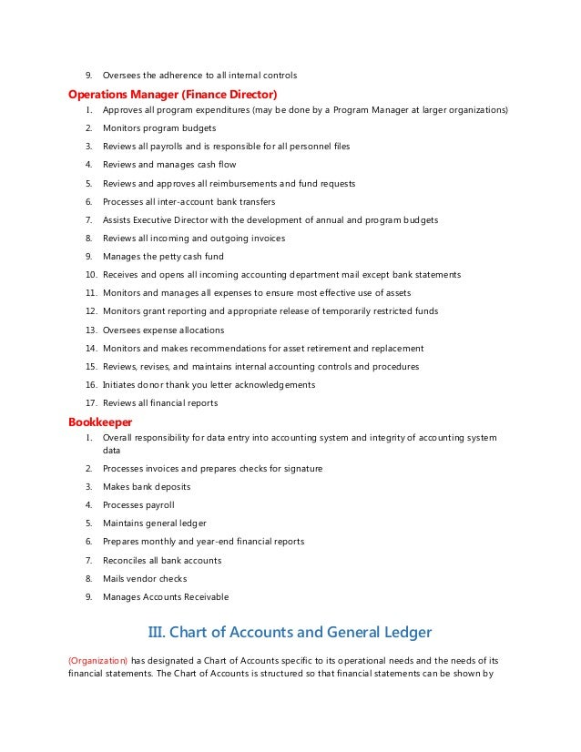 Accounting Policy Manual Template  ApigramCom
