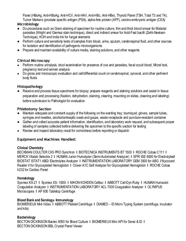 sample nuclear medicine technologist resume