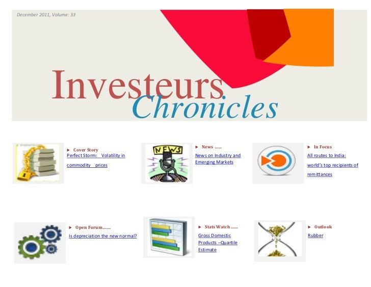 December 2011, Volume: 33                                ISSUE                      VOLUME              Investeurs        ...