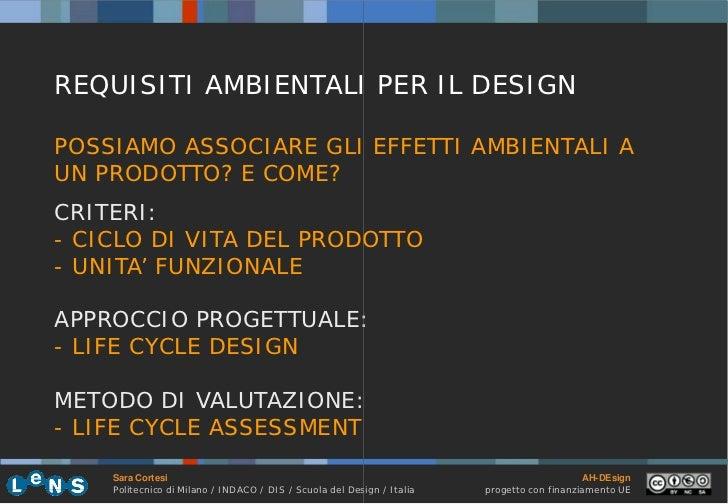 3.3 Life Cycle Assessment (Sara Cortesi, Politecnico di Milano, Italy…