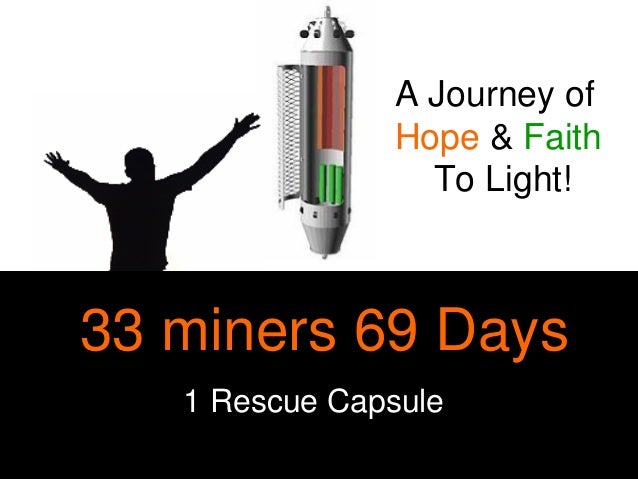 33 miners 69 Days 1 Rescue Capsule A Journey of Hope & Faith To Light!