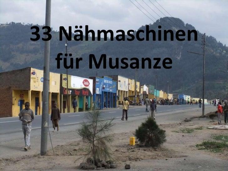 33 Nähmaschinen für Musanze
