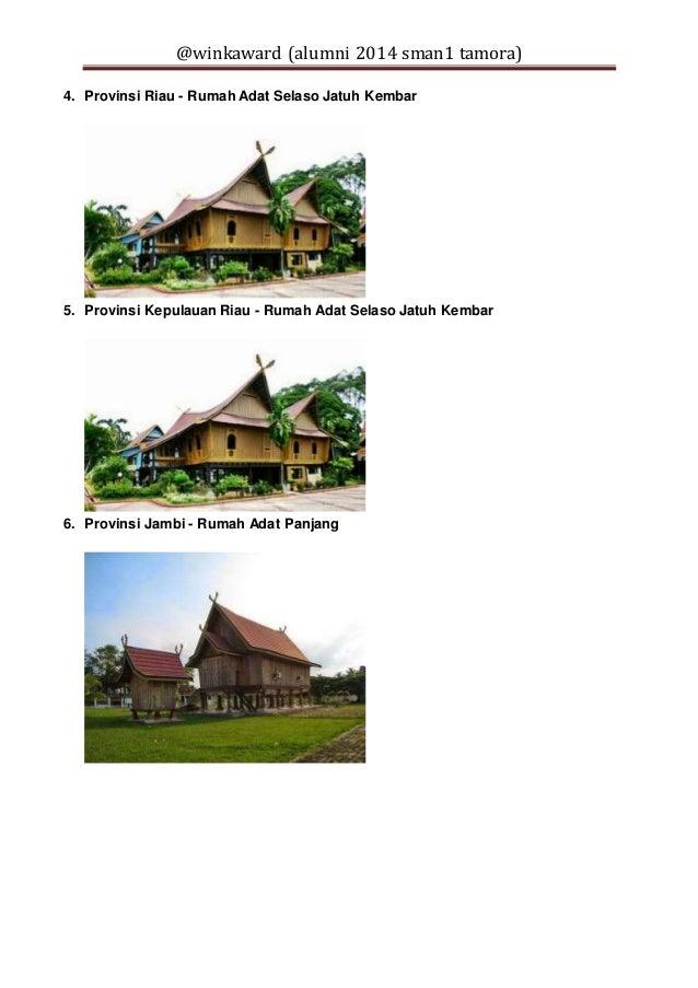 33 provinsi di indonesia dan nama rumah adatnya 2 638