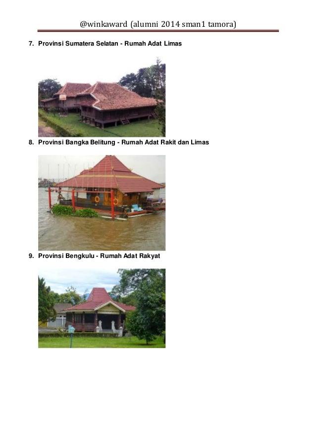 33 provinsi di indonesia dan nama rumah adatnya 3 638