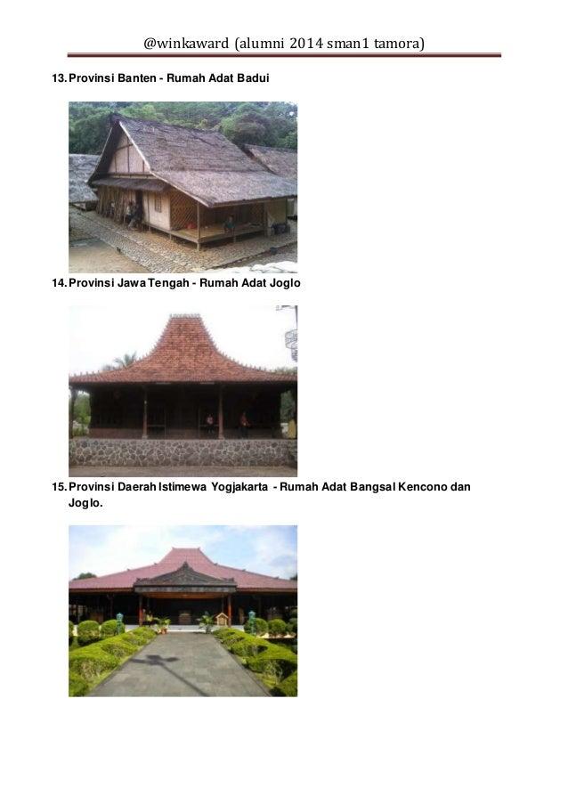 33 provinsi di indonesia dan nama rumah adatnya 5 638
