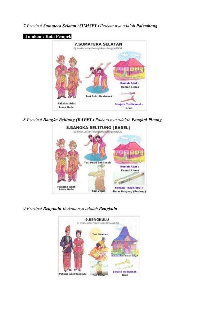 33 provinsi di indonesia lengkap dengan pakaian