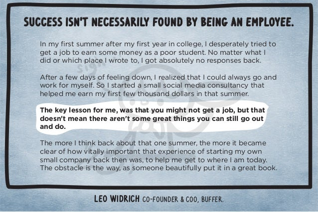 Success isn't necessarily found by being an employee.  *)5ü./0/1))!.0!.)5ü./05!.%*+((!#!Č !/,!.0!(50.%! 0+  #!0+0+!.*/+)...