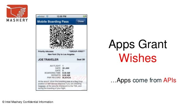 © Intel Mashery Confidential Information Apps Grant Wishes …Apps come from APIs